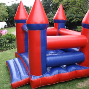 3 by 3 m red and blue castle R350.00 per day